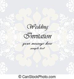 花, 結婚式, 背景, 招待
