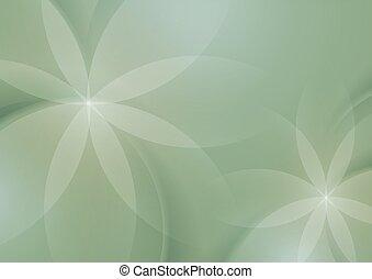 花, 緑の概要, セージ, 背景