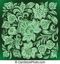 花, 緑の概要, 装飾, 背景