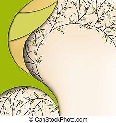 花, 緑の背景, 自然