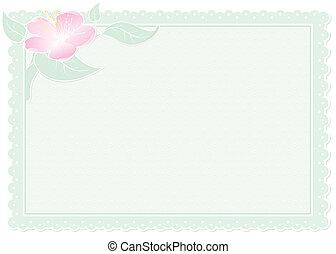 花, 緑, カード
