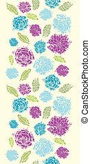 花, 縦, ペイントされた, パターン, seamless, 背景, textured