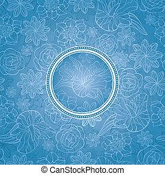 花, 美しい, カード