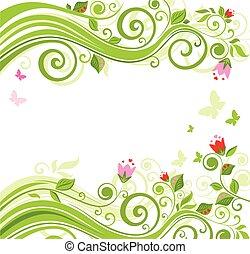花, 美しい, 背景