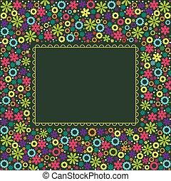 花, 背景, テンプレート, カード。