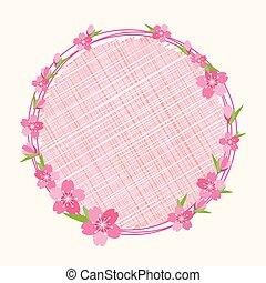 花, 背景, 花, さくらんぼ, ブランチ, 円