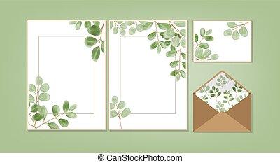 花, 背景, collection., テンプレート