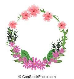 花, 自然, 框架, 花冠, 微妙, 輪