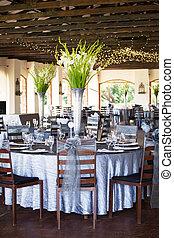 花, 花束, 結婚宴會, 華麗, 大廳