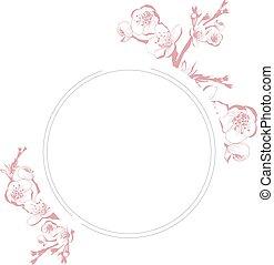 花, 花, 葡萄酒, 框架, 春天, 輪