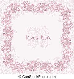 花, 華やか, カード, 招待