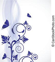 花, 蝶, カード
