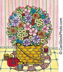 花, 裁縫