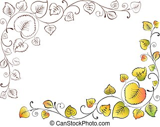 花, 装飾用である, 葉, コーナー