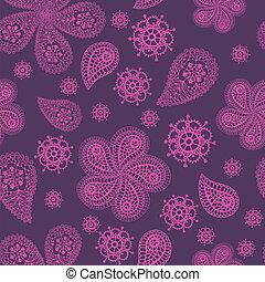 花, 装飾用, 有色人種, seamless, パターン