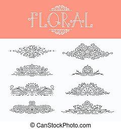 花, 装飾的な 要素, デザイン