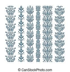 花, 装飾, 幾何学的
