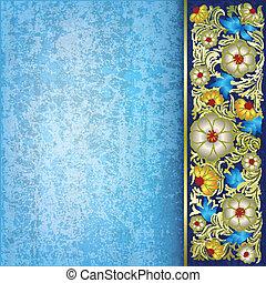 花, 装飾, 抽象的, グランジ, 背景