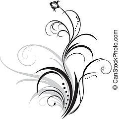 花, 装飾, sprig., 要素