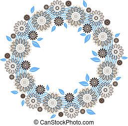 花, 裝飾品, 輪, 做