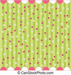 花, 赤ん坊, seamless, カード, パターン