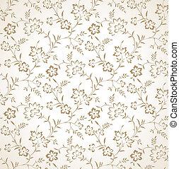 花, 金, 壁紙, seamless