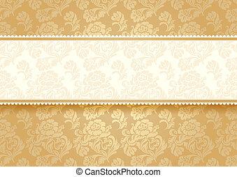 花, 金, 背景