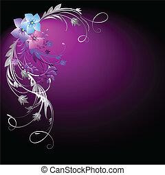花, 銀, 装飾