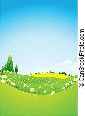 花, 風景, 緑