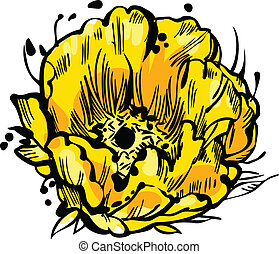 花, 黄色, つぼみ