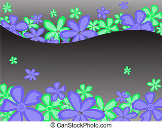 花, 黒い背景