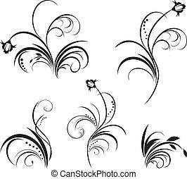 花, 5, 要素, デザイン