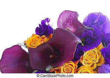 花, calla, lilly, eustoma