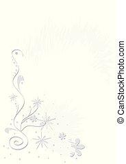花, eps., 抽象的, 背景