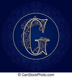 花, g, 手紙, 型, アルファベット