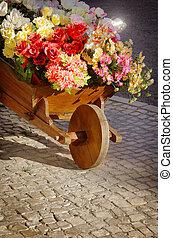 花, handcart