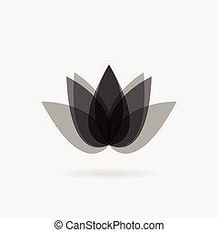 花, icon., lotus., エステ, ロゴ, デザイン