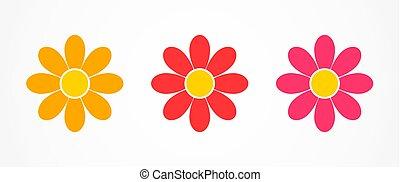 花, icons., デイジー