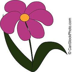 花, illustration., 色, ベクトル, ∥あるいは∥