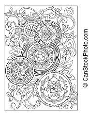 花, mandalas, imade