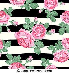 花, pattern., レトロ, seamless