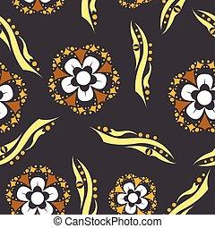 花, pattern., 型, 装飾用である, elements.