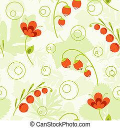 花, pattern., seamless