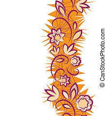 花, pattern., seamless, 縦