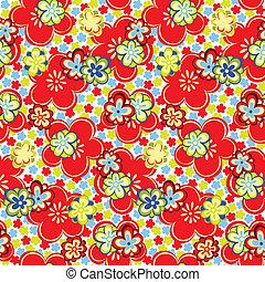 花, seamless, パターン