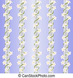 花, seamless, 縦, 抽象的