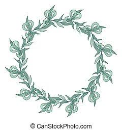花, wreath.