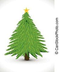 芸術的, クリスマス, 抽象的, 木
