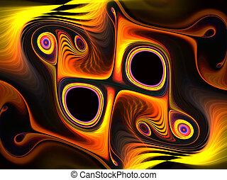 芸術的, ファンタジー, 動的, 背景, swirls., 美しい, 現代