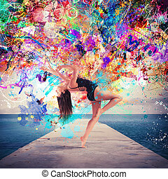 ∥, 芸術, の, ダンス